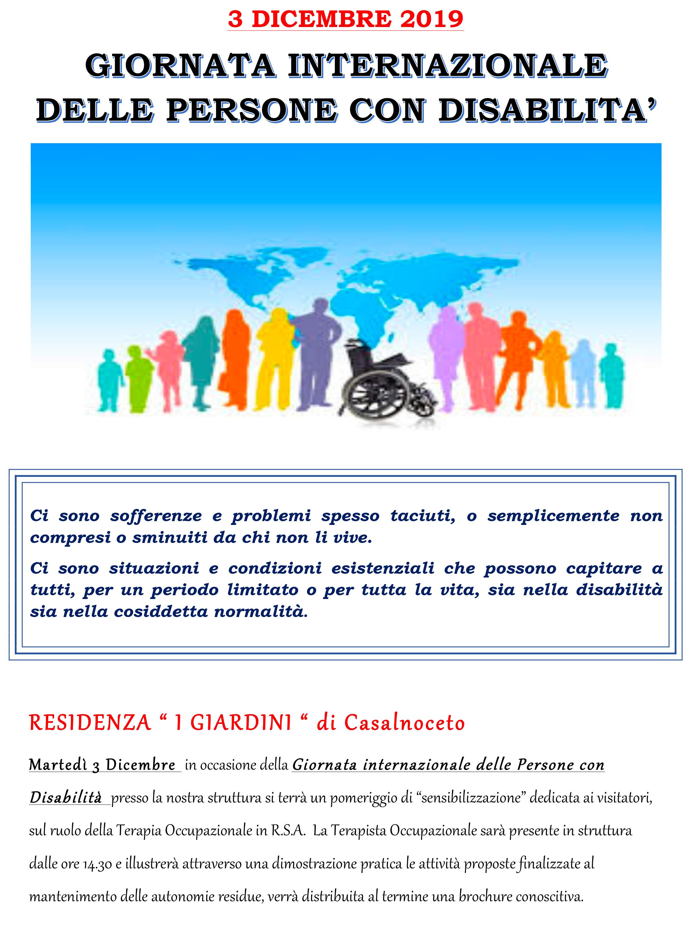 Giornata della disabilità - Il Giglio